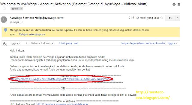 Buka kotak masuk email untuk Verifikasi