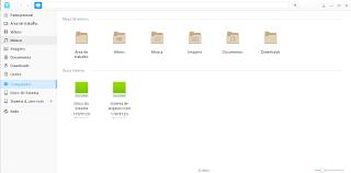 Gerenciador de arquivos Deepin