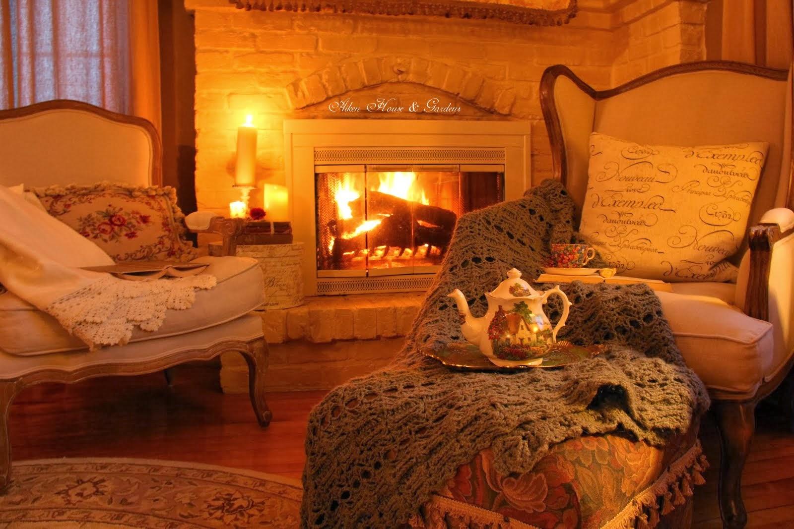 Home and Garden: Romantic Fireside Tea