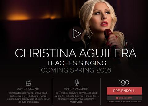 christina aguilera alla frutta: lezioni di canto per 90 dollari