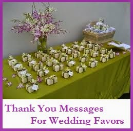 Thank You Messages For Wedding Favors/ Sample Thank You Note For ...