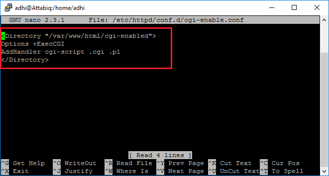 Lab 8.2 Mengaktifkan CGI Pada Apache CentOS 7 ~ Look And Learn