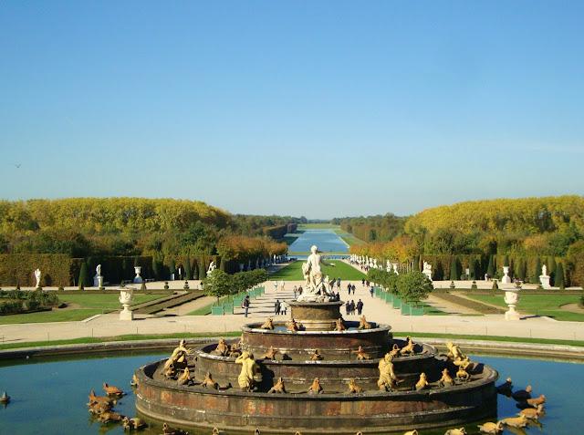 Vista desde o Palácio de Versalhes