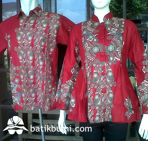 Sarimbit Blouse Batik Peplum Batu SR 013