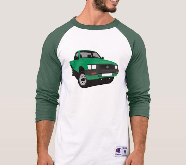 90-luvun Toyota Hilux lava-auto t-paidat
