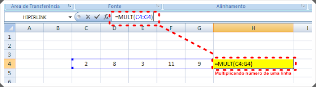 MULT Excel
