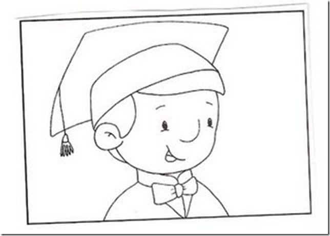Dibujos Para Colorear Graduados Preescolar