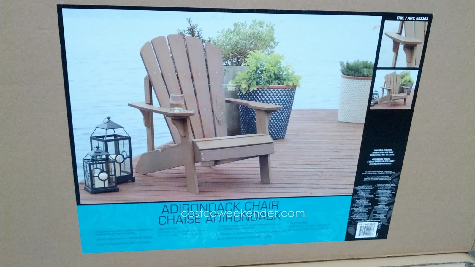 Ergonomic Chair Dimensions Wicker Outdoor Dining Chairs Faux Wood Adirondack | Costco Weekender