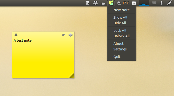 Pin Notes To Your Desktop With StickyNotes Indicator ~ Web Upd8