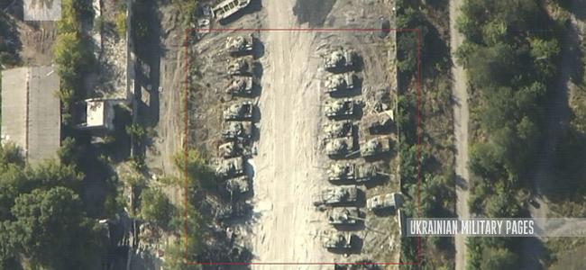Роздольне: за 10 км від лінії розмежування помітили танки та іншу військову техніку