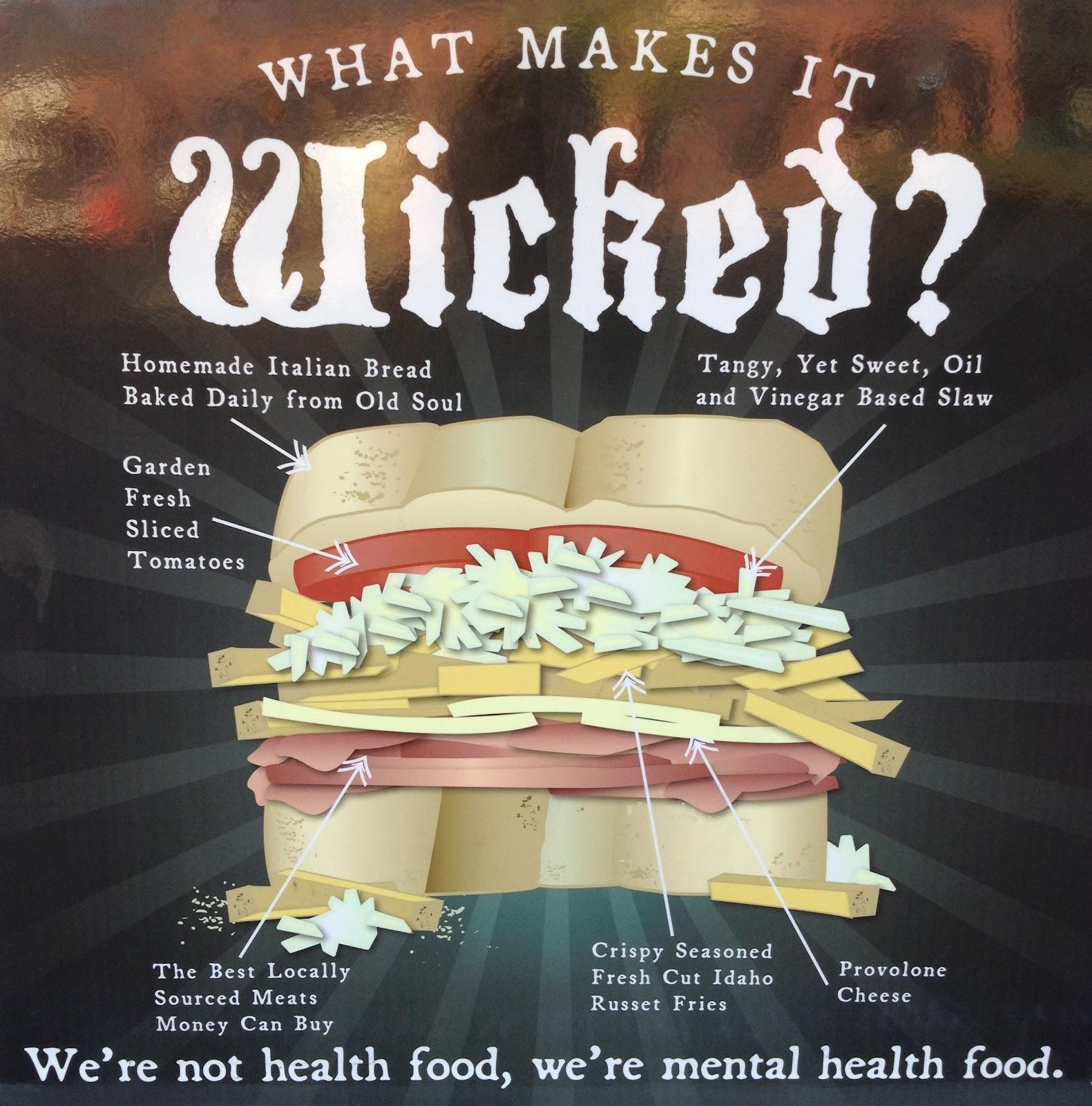 Wicked Wich Food Truck Menu