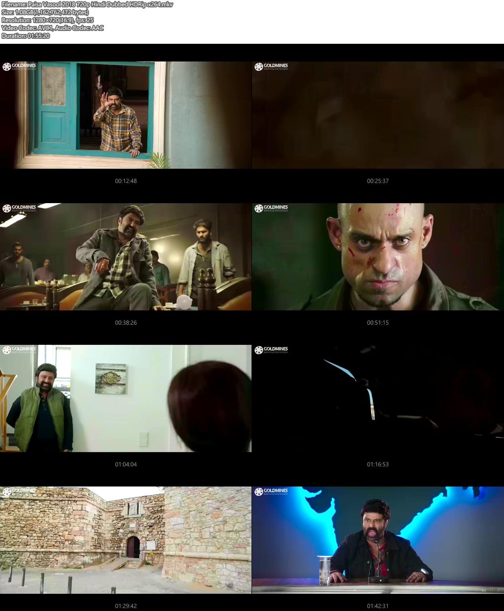 Paisa Vasool 2018 720p Hindi Dubbed HDRip x264 | 480p 300MB | 100MB HEVC Screenshot