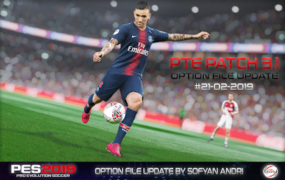 PES 2019 PTE Patch 2019 3.1 DLC 4.0 Option File 21-02-2019 by Sofyan Andri