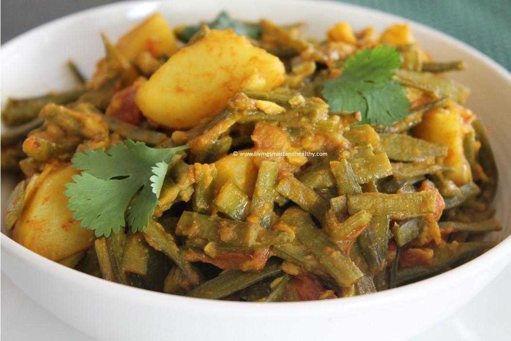 Instant Pot Cluster Beans Gawar Aloo Ki Sabji