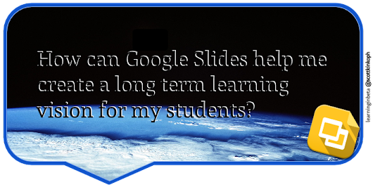 Google Slides: Communicate your learning vision