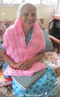 free crochet pattern, free crochet scarf pattern, Free crochet shelled scarf pattern