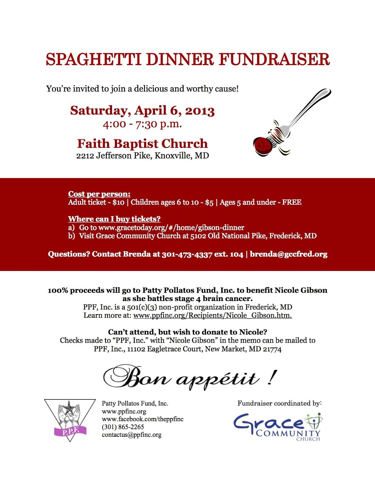Spaghetti Dinner Ticket Template fundraiser holding a fundraiser – Sample Tickets for Fundraisers