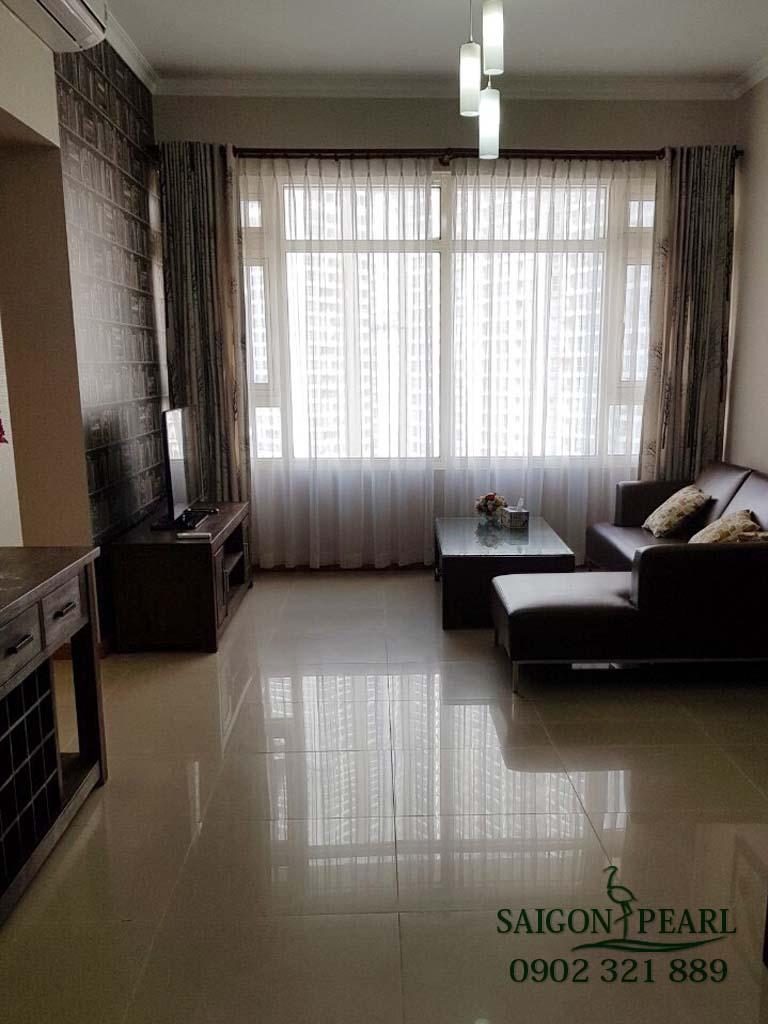 Topaz 1 Saigon Pearl cho thuê căn hộ 2 phòng ngủ - phòng khách