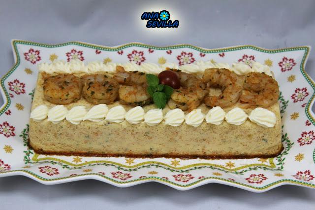 Flan de langostinos Ana Sevilla Cocina tradicional