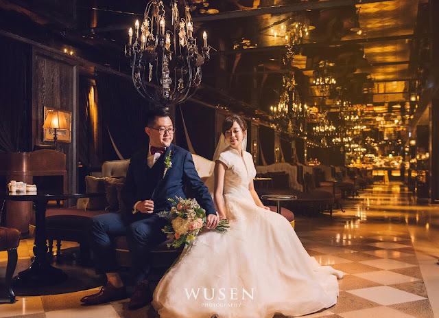 君品酒店走廊拍攝白紗台北婚攝wusen幸福地圖婚禮攝影