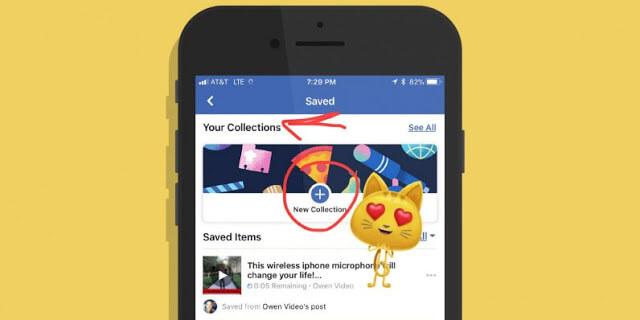 facebook Coleções