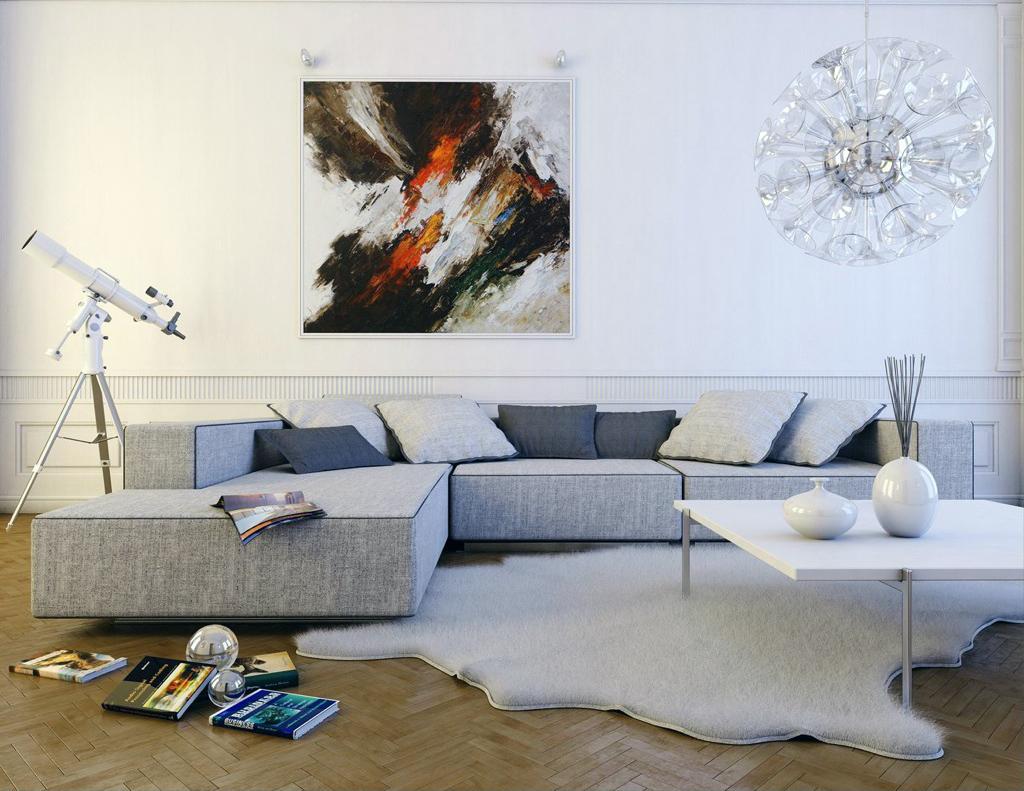 Gjøre en hvit stue elegante & unike - interiør inspirasjon