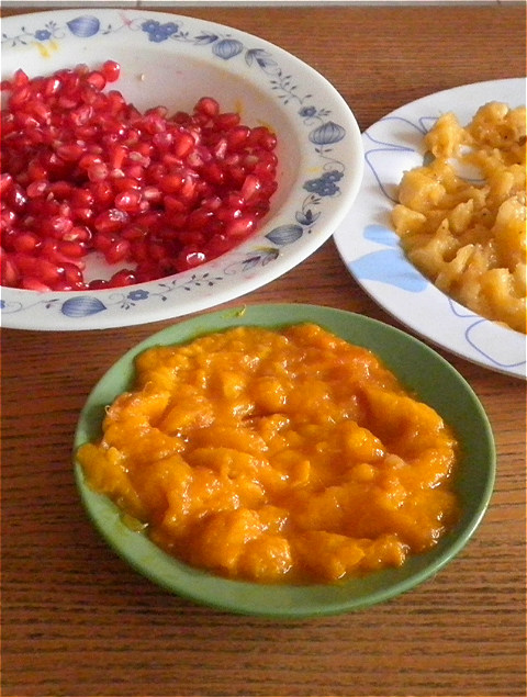 Pomegranate & Mango Baked Oatmeal