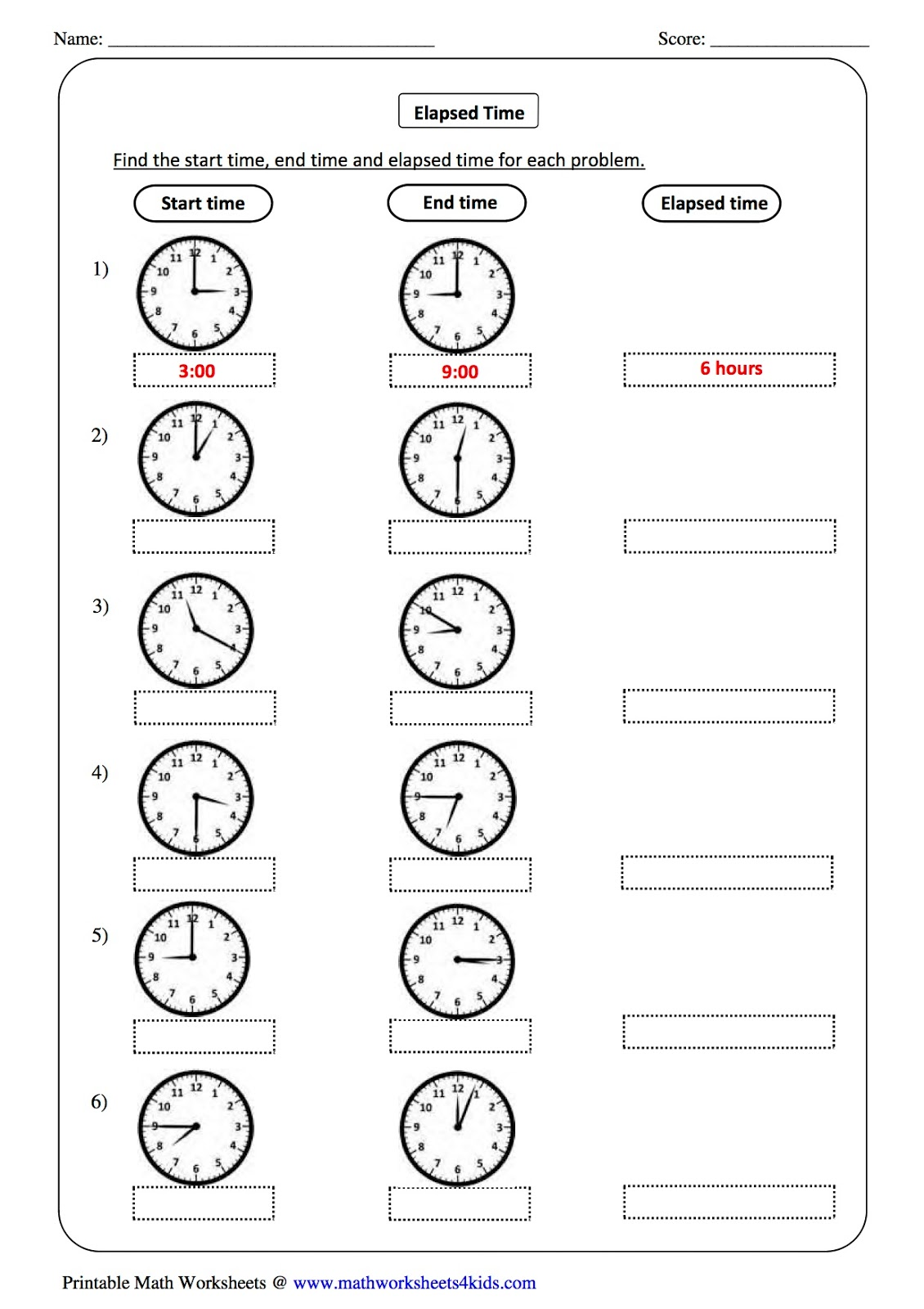 hight resolution of Telling Time Worksheet Third Grade   Printable Worksheets and Activities  for Teachers