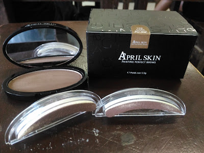 aprilskin sg authentic eyebrow stamp dark brown natural curve immafoosa honest review