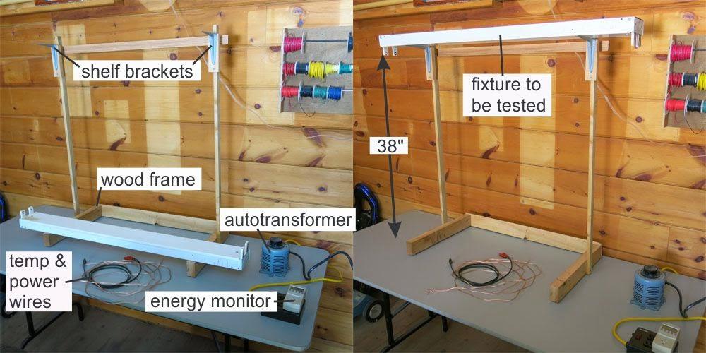 georgesworkshop: testing fluorescent light fixtures - the test jig