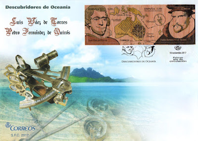 Sobre Primer Día de Circulación del sello de los Descubridores de Oceanía