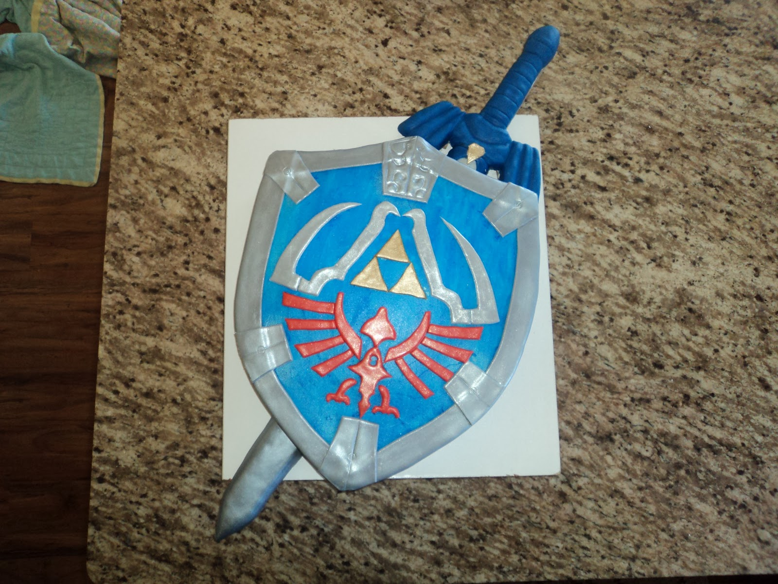 Delectable Cakes Legend Of Zelda Shield And Sword Cake