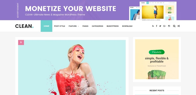 Clean Free Blogger Template