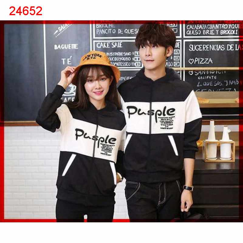 Jual Jacket Couple Jacket Pusple - 24652