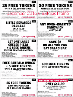 Chuck E Cheese coupons december