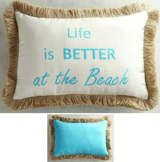 Life is Better at the Beach Pillow - Beach Home Decor ...