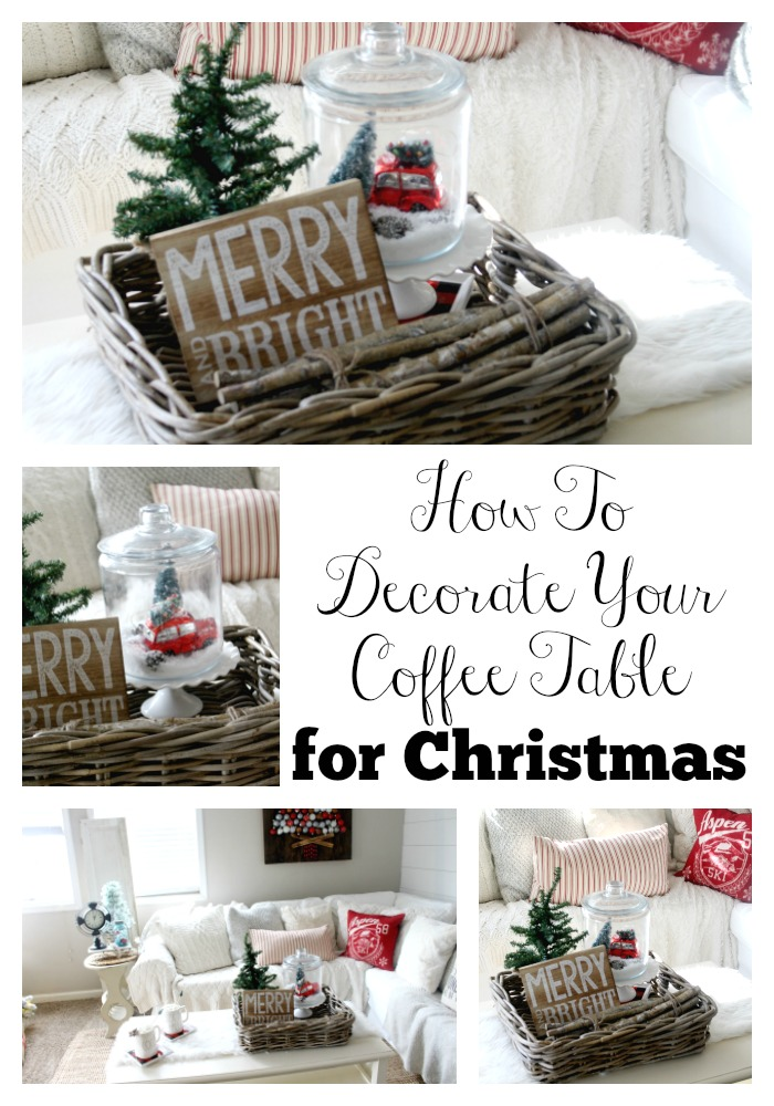 How To Decorate Your Coffee Table For Christmas