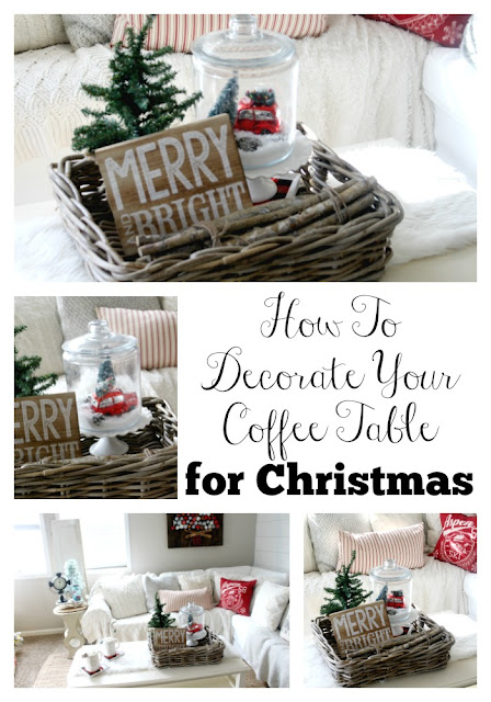 How to decorate your coffee table for christmas the glam for Ideas for decorating coffee table for christmas