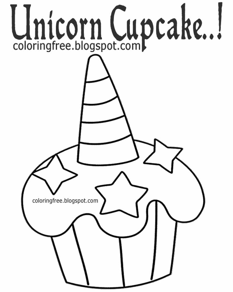 Printable Unicorn Drawing Mythical Coloring Book Pictures ...