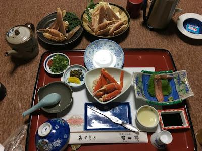 金平楼 カニプランの夕食