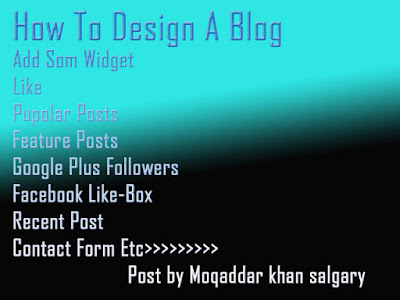 How To Blog Design