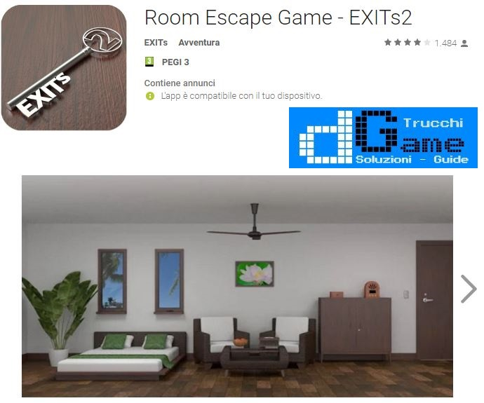 Soluzioni Room Escape Game - EXITs2 livello 1 2 3 4 5 6 7 8 9 10 | Trucchi e Walkthrough level