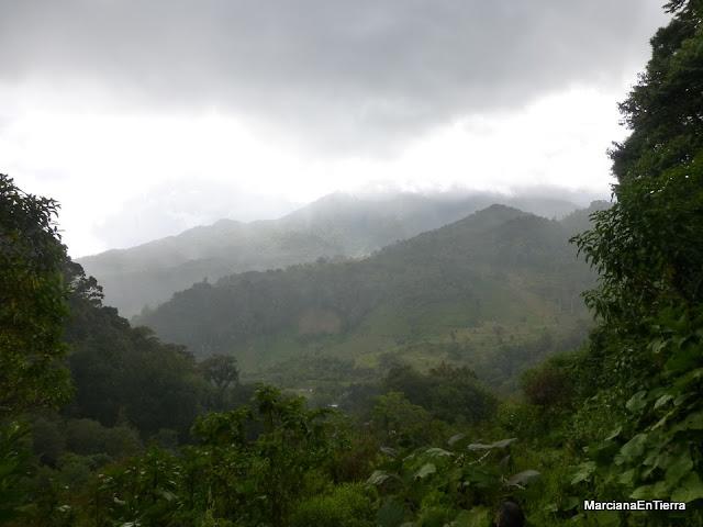 Vista hacia el Parque Nacional Volcán Barú, Boquete, Panamá
