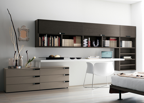 modern modular systems wood home office furniture