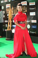 Apoorva in a Stunning Tight Leg Split Sleeveless Red Gown at IIFA Utsavam Awards 47.JPG