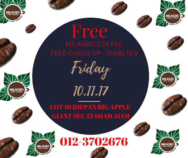 Cek Gula Dalam Darah - DIABETES PERCUMA ! Kopi Milagro Coffee Patawali PERCUMA ! Kopi Patawali No 1 Malaysia Dan Dunia