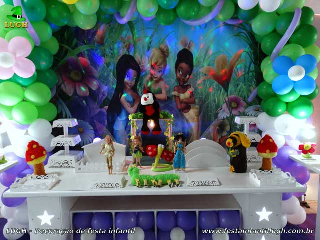 Mesa decorativa festa Tinker Bell - Sininho - Aniversário infantil