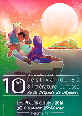 Affiche du festival BD&Littérature jeunesse 2016 La Begude Mazenc