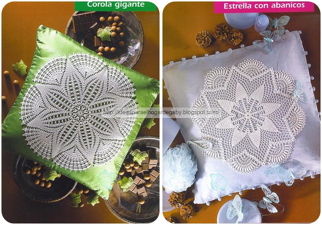 Dos modelos de fundas para tejer cojines ~ crochet tanakamadrin