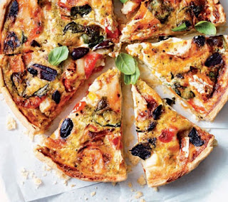 Goats Cheese and Roasted Pepper Tart Recipe